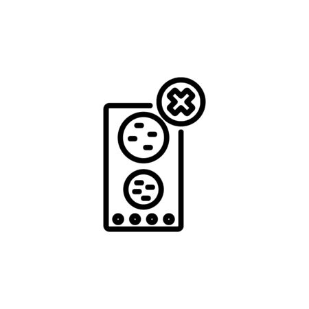 speaker off icon. Perfect for application, web, logo and presentation template. icon design line style