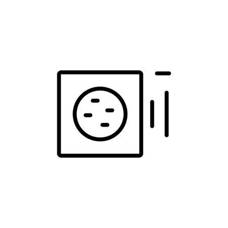 volume down icon. Perfect for application, web, logo and presentation template. icon design line style