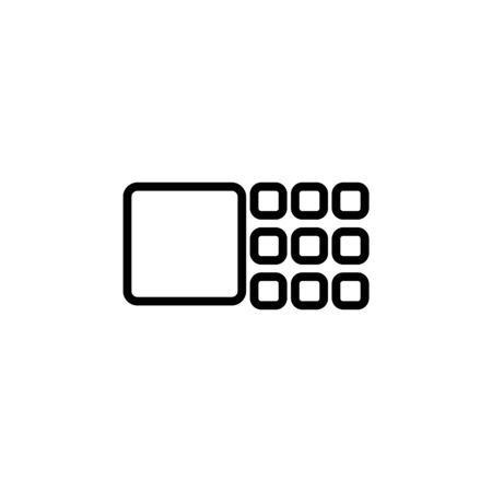 transparent icon. Perfect for application, web, logo and presentation template. icon design line style