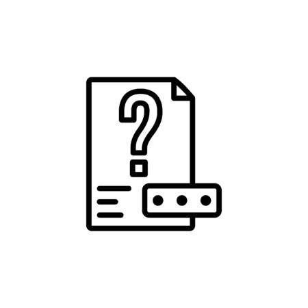 unknown file icon. Perfect for application, web, logo and presentation template. icon design line style