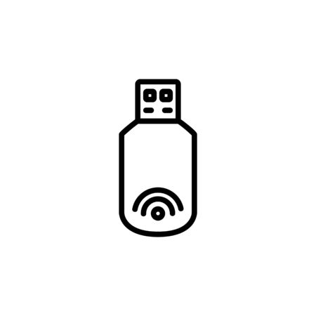modem icon. Perfect for application, web, logo and presentation template. icon design line style Ilustracja