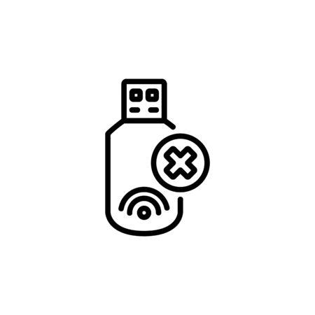 modem off icon. Perfect for application, web, logo and presentation template. icon design line style Ilustracja