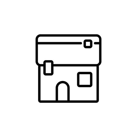 home icon. Perfect for application, web, logo and presentation template. icon design line style Illustration
