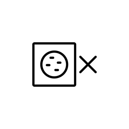 volume mute icon. Perfect for application, web, logo and presentation template. icon design line style