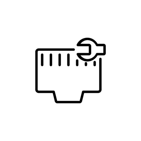 network setting icon. Perfect for application, web, logo and presentation template. icon design line style Ilustracja