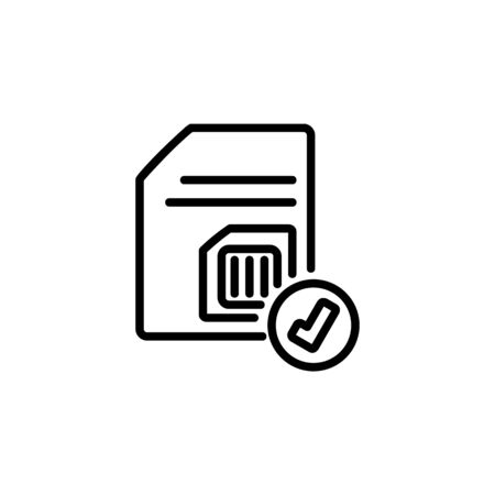 subscriber identity module detect icon. Perfect for application, web, logo and presentation template. icon design line style