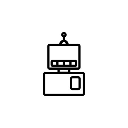 automatic robot icon. Perfect for application, web, logo and presentation template. icon design line style