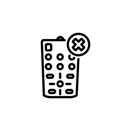 off remote icon. Perfect for application, web, logo and presentation template. icon design line style