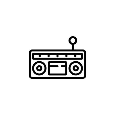 radio icon. Perfect for application, web, logo and presentation template. icon design line style