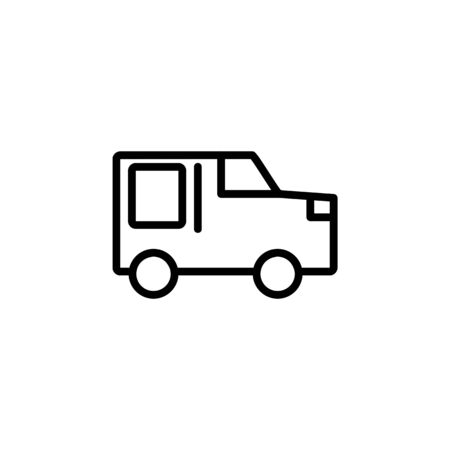 car mode icon. Perfect for application, web, logo and presentation template. icon design line style Illustration