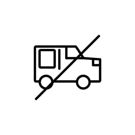 off car mode icon. Perfect for application, web, logo and presentation template. icon design line style