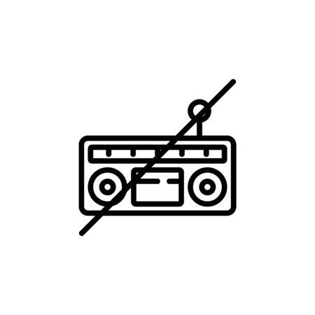 off radio icon. Perfect for application, web, logo and presentation template. icon design line style Ilustracja