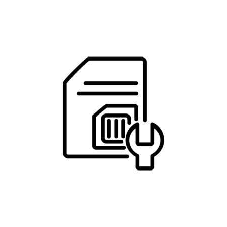 subscriber identity module setting icon. Perfect for application, web, logo and presentation template. icon design line style