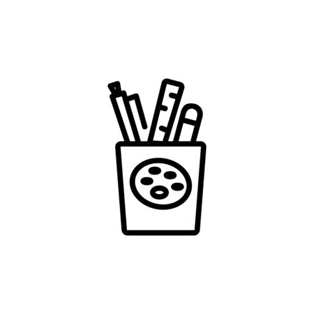draw tool icon. Perfect for application, web, logo and presentation template. icon design line style