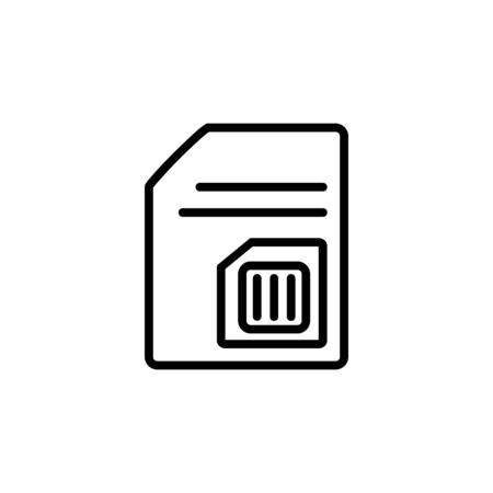 subscriber identity module icon. Perfect for application, web, logo and presentation template. icon design line style