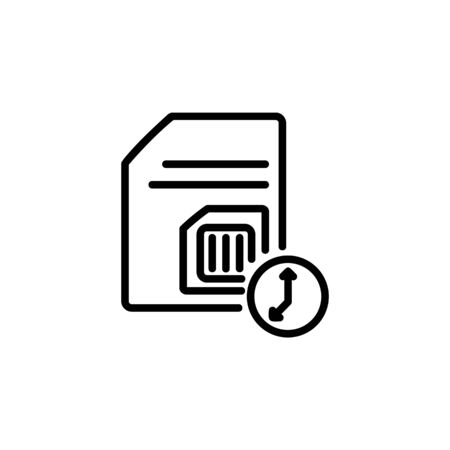subscriber identity module pending icon. Perfect for application, web, logo and presentation template. icon design line style Stock Vector - 140286242