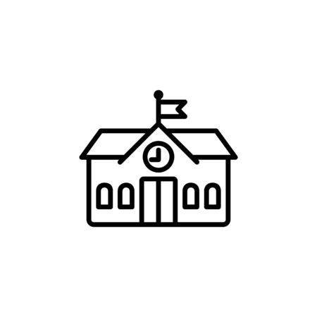 education icon, school icon. Perfect for application, web, logo and presentation template. icon design line style