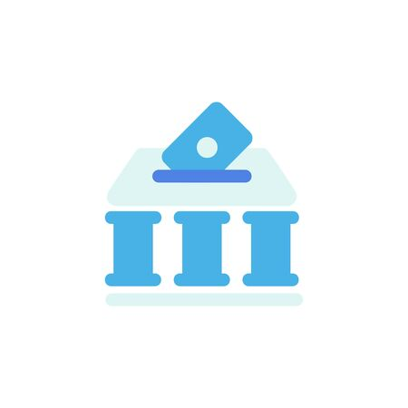 finance icon, bank icon . Perfect for application, web, logo and presentation template. icon design flat style