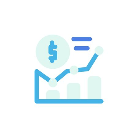 finance icon, statistic icon . Perfect for application, web, logo and presentation template. icon design flat style