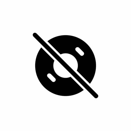 disable disc icon. Perfect for application, web, logo and presentation template. icon design solid style