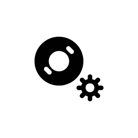 disc setting icon. Perfect for application, web, logo and presentation template. icon design solid style