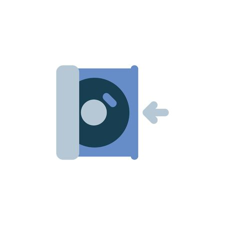 insert disc icon. Perfect for application, web, logo and presentation template. icon design flat style