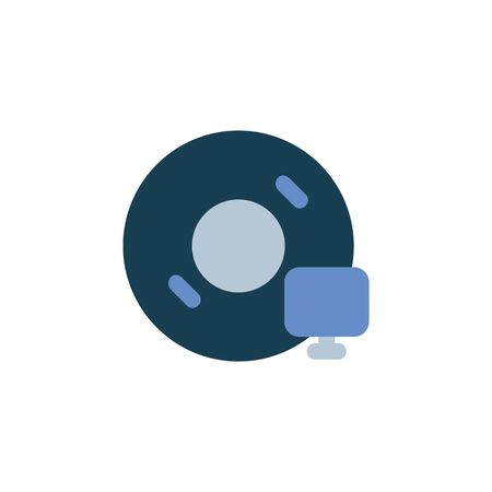 installation disc icon. Perfect for application, web, logo and presentation template. icon design flat style