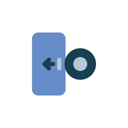 import disc data icon. Perfect for application, web, logo and presentation template. icon design flat style Çizim