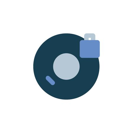 lock disc icon. Perfect for application, web, logo and presentation template. icon design flat style