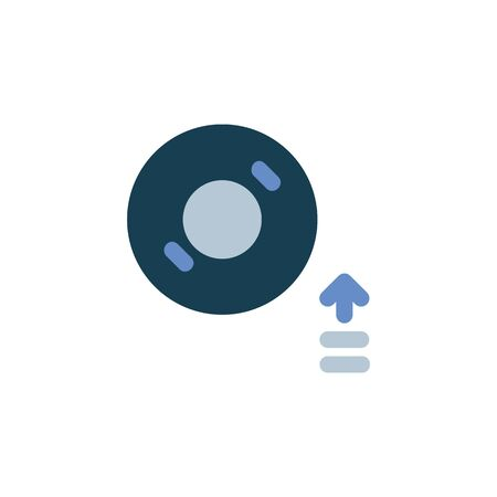mount disc icon. Perfect for application, web, logo and presentation template. icon design flat style