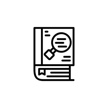 knowledge icon. Online Learning icon. Perfect for application, web, logo and presentation template. icon design line style Ilustracja