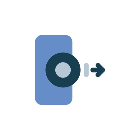 export disc data icon. Perfect for application, web, logo and presentation template. icon design flat style