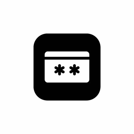 credit card code security icon. business and finance icon.