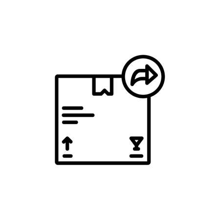 share product vector icon line style. Perfect for website, application, commerce, presentation, logo and more. simple, thin and modern outline icon