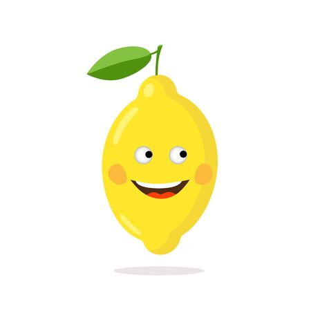 A cheerful lemon as a symbol of well-being and health.