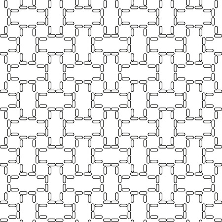 paving: Vector seamless geometric pattern in a contrasting black and white tones. Monochrome floors, walls, paving slabs.