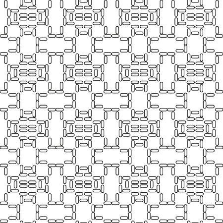 flooring: Vector seamless geometric pattern in a contrasting black and white tones. Monochrome pattern flooring, masonry, pavers Illustration