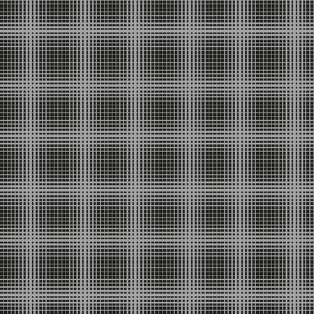 intersect: White and black stripes intersect and create a square. Seamless pattern for backgrounds, fabrics and finishing of paper. Illustration