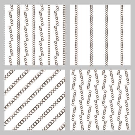 sloping: Set of 4 monochrome elegant seamless patterns. he original vector background patterned sloping dark stripes on a white background.