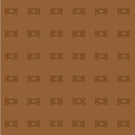 braun: Vector seamless pattern of light brown decorative elements on a braun background