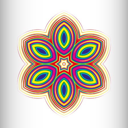 metaphorical: Mandala, circular pattern. A pattern from color spirals for your designs. Spirals and patten elements of red, blue and green color. Vector pattern.