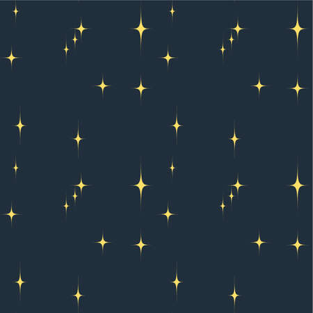 fanciful: Two-tone vector seamless pattern. Blue stylized stars on a blue background. Winter background for greeting cards, congratulations and your other projects.