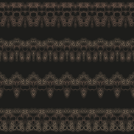 strapping: Lacy borders, ornamental patterns. Vector texture. An openwork pattern for decoration of your works from a set of small spirals.