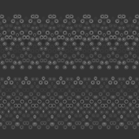 panty hose: Lacy borders, ornamental patterns. Vector texture. An openwork pattern for decoration of your works from a set of small spirals.