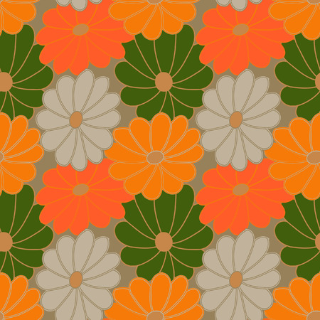 muted: Flower pattern. A seamless vector background for the sites, cards, fabrics