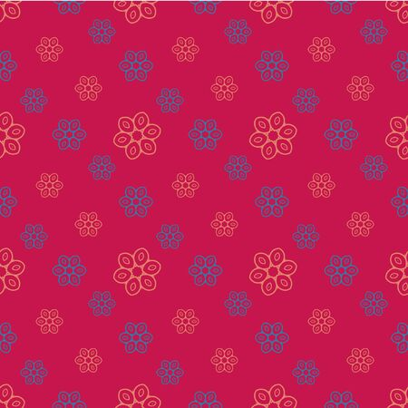 muted: Seamless vintage pattern.  Floral pattern for decoration fabric, wrapping paper, greeting cards. Illustration
