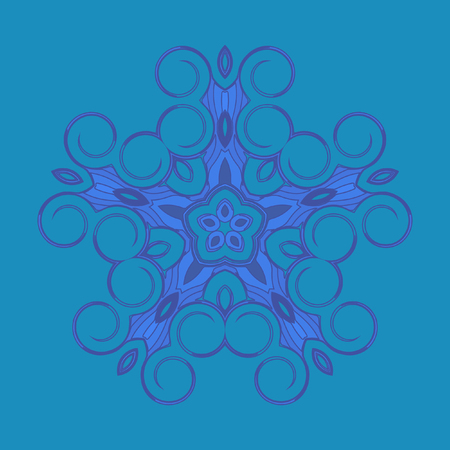 nodules: Mandala - circular pattern. A pattern from spirals for your designs. Vector pattern. Monochrome drawing. The circular pattern of the elements of spirals.