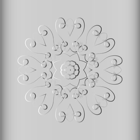 twisting: Monochrome elegant round pattern. Vector circular pattern from twisting lines. Mandala. Illustration