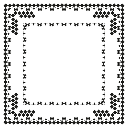 decorative items: Decorative items to decorate your work. Vector design elements. Vector graphic elements for design. Geometric fashion pattern. Vector frame.