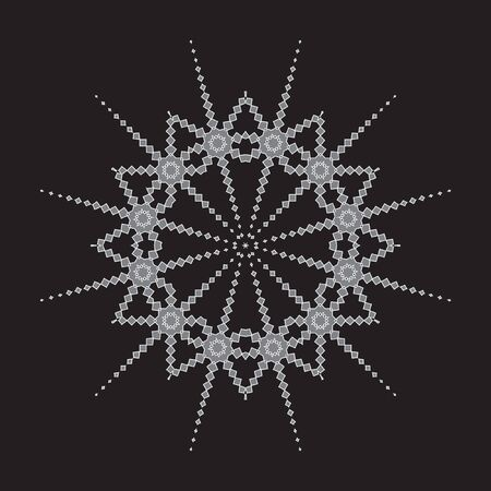 decorative items: Decorative items to decorate your work. Vector design elements. Vector graphic elements for design. Geometric fashion pattern.  Vector star, snowflake, round pattern. Illustration